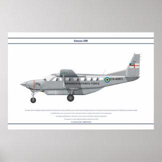 Cessna 208 Bahamas Póster