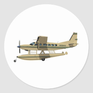 Cessna 208 Caravan II Classic Round Sticker