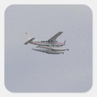 Cessna 208 Caravan Seaplane Square Sticker