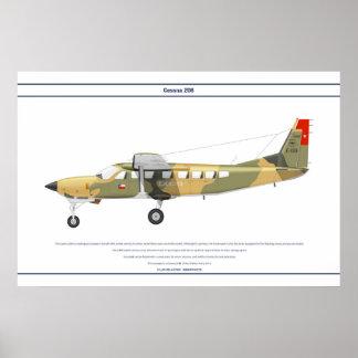 Cessna 208 Chile Print