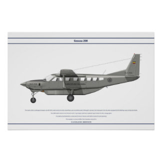 Cessna 208 Colombia Posters