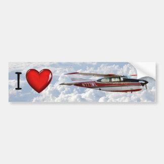 Cessna 210 N777WL Bumper Sticker