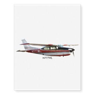Cessna 210K Temporary Tattoo