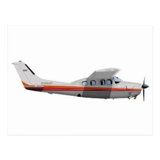 Cessna 210P Centurion 394394 Postcard