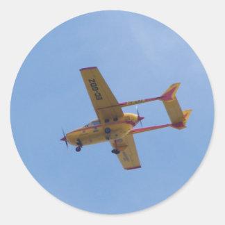 Cessna 337G Super Skymaster Classic Round Sticker