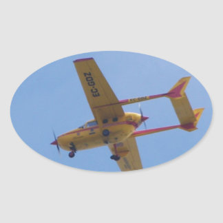 Cessna 337G Super Skymaster Oval Sticker