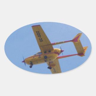 Cessna 337G Super Skymaster Oval Sticker