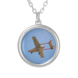 Cessna 337G Super Skymaster Silver Plated Necklace