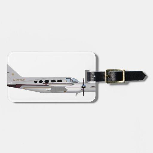 Cessna 421 Eagle de oro 393393 Etiqueta De Equipaje