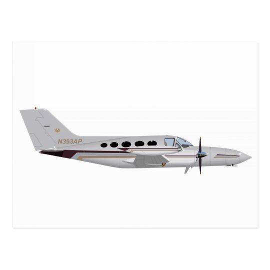 Cessna 421 Golden Eagle 393393 Postcard