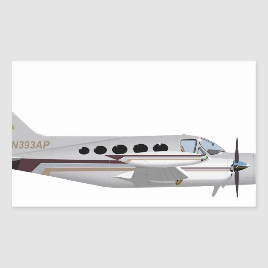 Cessna 421 Golden Eagle 393393 Rectangular Sticker