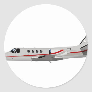 Cessna 500 Citation II 397397 Classic Round Sticker