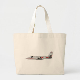Cessna 500 Citation II 397397 Large Tote Bag