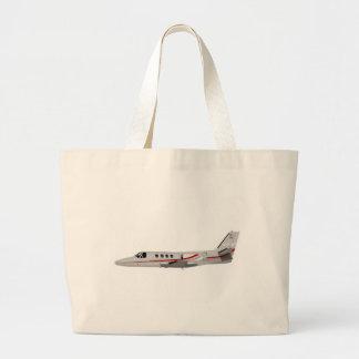Cessna 500 Citation II 397397 Large Tote Bag