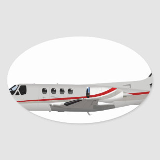 Cessna 500 Citation II 397397 Oval Sticker