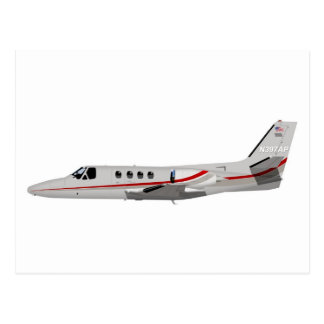 Cessna 500 Citation II 397397 Postcard