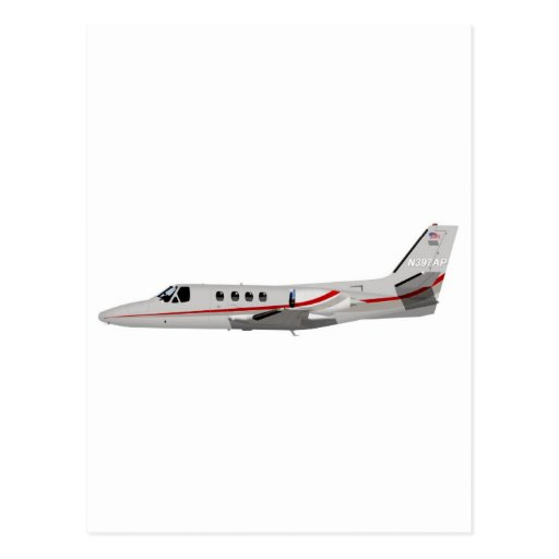 Cessna 500 Citation II 397397 Postcard