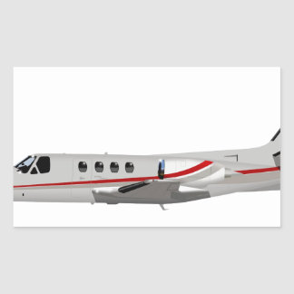 Cessna 500 Citation II 397397 Rectangular Sticker