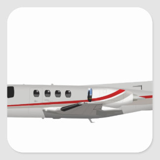 Cessna 500 Citation II 397397 Square Sticker