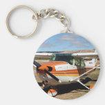 Cessna aircraft basic round button keychain