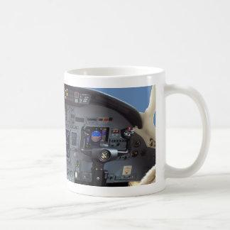 Cessna Citation Excel Cockpit Classic White Coffee Mug