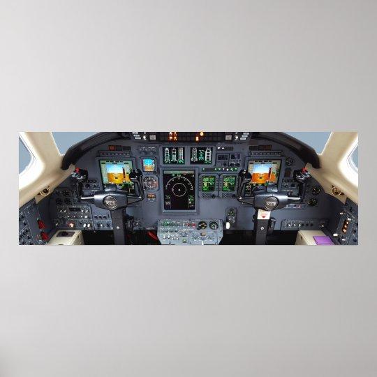 Cessna Cockpit Insturment Panel Poster