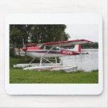 Cessna float plane, Lake Hood, Alaska Mousepads