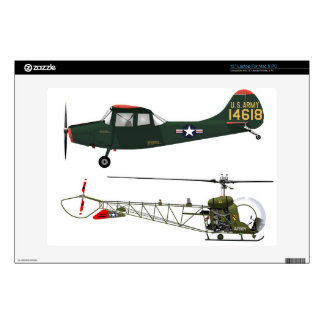 Cessna L-19 and Bell H-13 Decal For Laptop