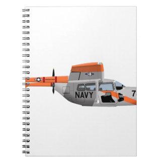 Cessna O-2A Pelican 224785 Spiral Note Book