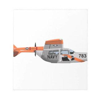 Cessna O-2A Pelican 224785 Notepad