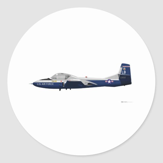 Cessna T-37 Dragonfly 68902 Classic Round Sticker