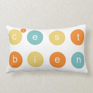 C'est Bien! Throw Pillow