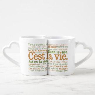 C'est La Vie couple's mugs