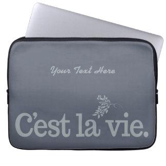 C'est La Vie custom laptop sleeves