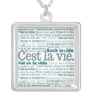 C'est La Vie custom necklace