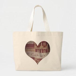 """C'est la vie!"" Heart Tote Bag"