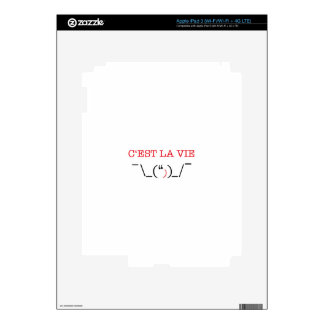 c'est la vie iPad 3 skin
