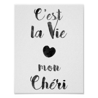 C'est la Vie mon Chéri Poster