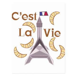 Cest La Vie Postcard