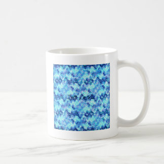 C'EST LA VIE, REVISITED Blue French Typography Art Classic White Coffee Mug