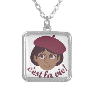 Cest La Vie Silver Plated Necklace