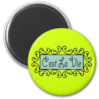 C'est La Vie (That's Life) ~ 2 Inch Round Magnet
