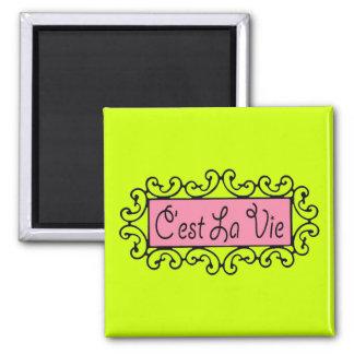 C'est La Vie (That's Life) ~ 2 Inch Square Magnet