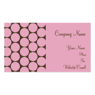 C'est Si Bon pink and brown business cards.