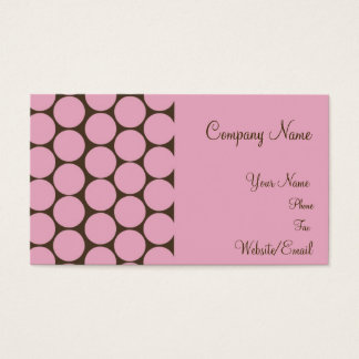 C'est Si Bon pink and brown business cards. Business Card