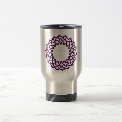 Cesta céltica púrpura del knotwork taza de viaje de acero inoxidable
