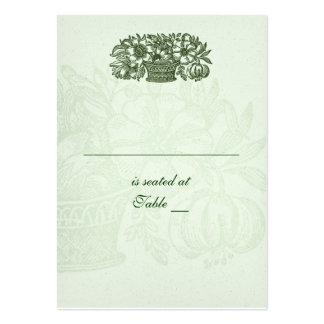 Cesta clásica sabia Placecard de la flor Tarjetas De Visita