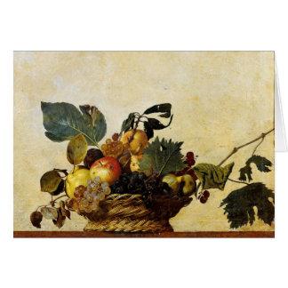 Cesta con la fruta, Caravaggio Tarjeta De Felicitación