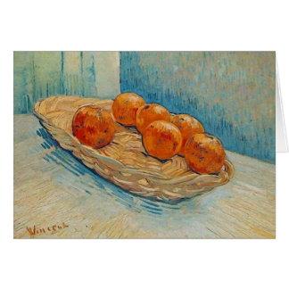 Cesta con seis bellas arte de Van Gogh de los Tarjeta Pequeña