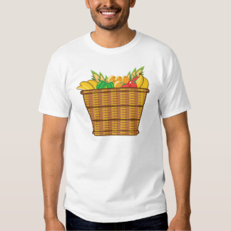 Cesta con vector de las frutas y verduras playeras